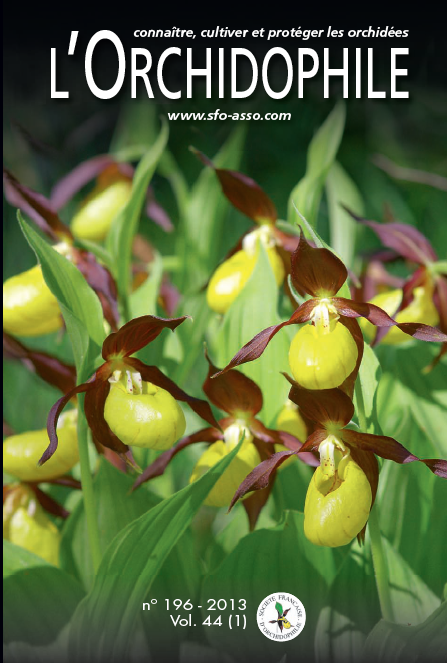 couverture L'Orchidophile 196 Cypripedium calceolus, journal des orchidées