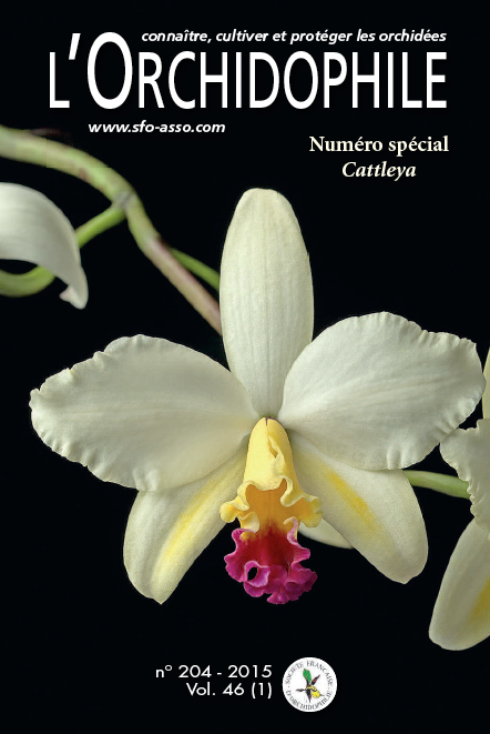 Couverture L'Orchidophile 204, le journal des orchidées