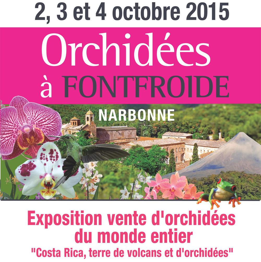 Exposition orchidées Abbaye Fontfroide 2015 2 au 4 octobre