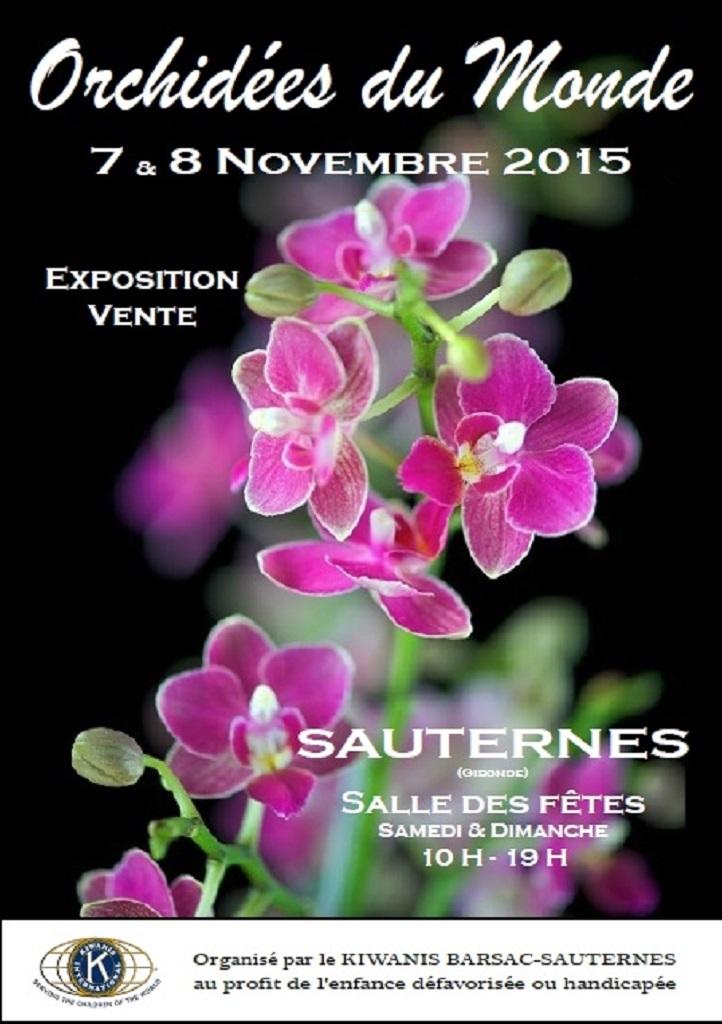 Exposition d'orchidées Sauternes