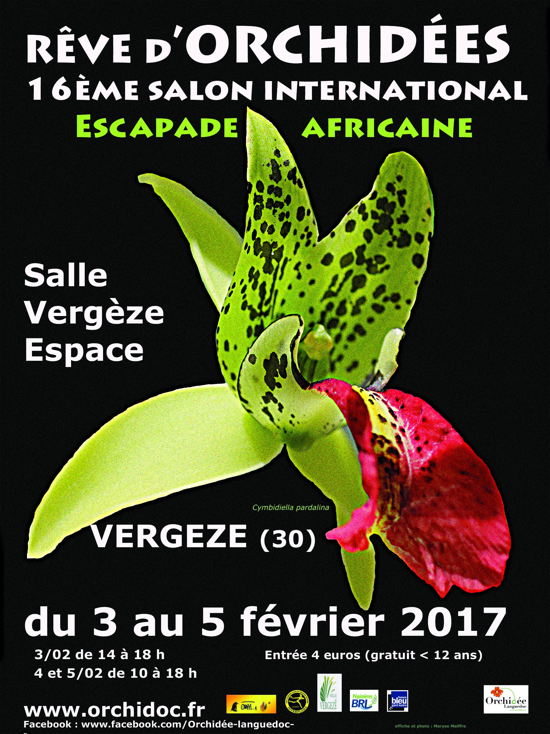 Exposition Orchidées Vergèze SFO Association Orchidées