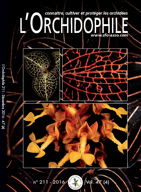 L'index de L'Orchidophile