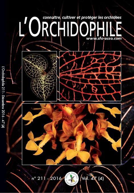 L'Orchidophile n°211 Association orchidées magazine passionnés