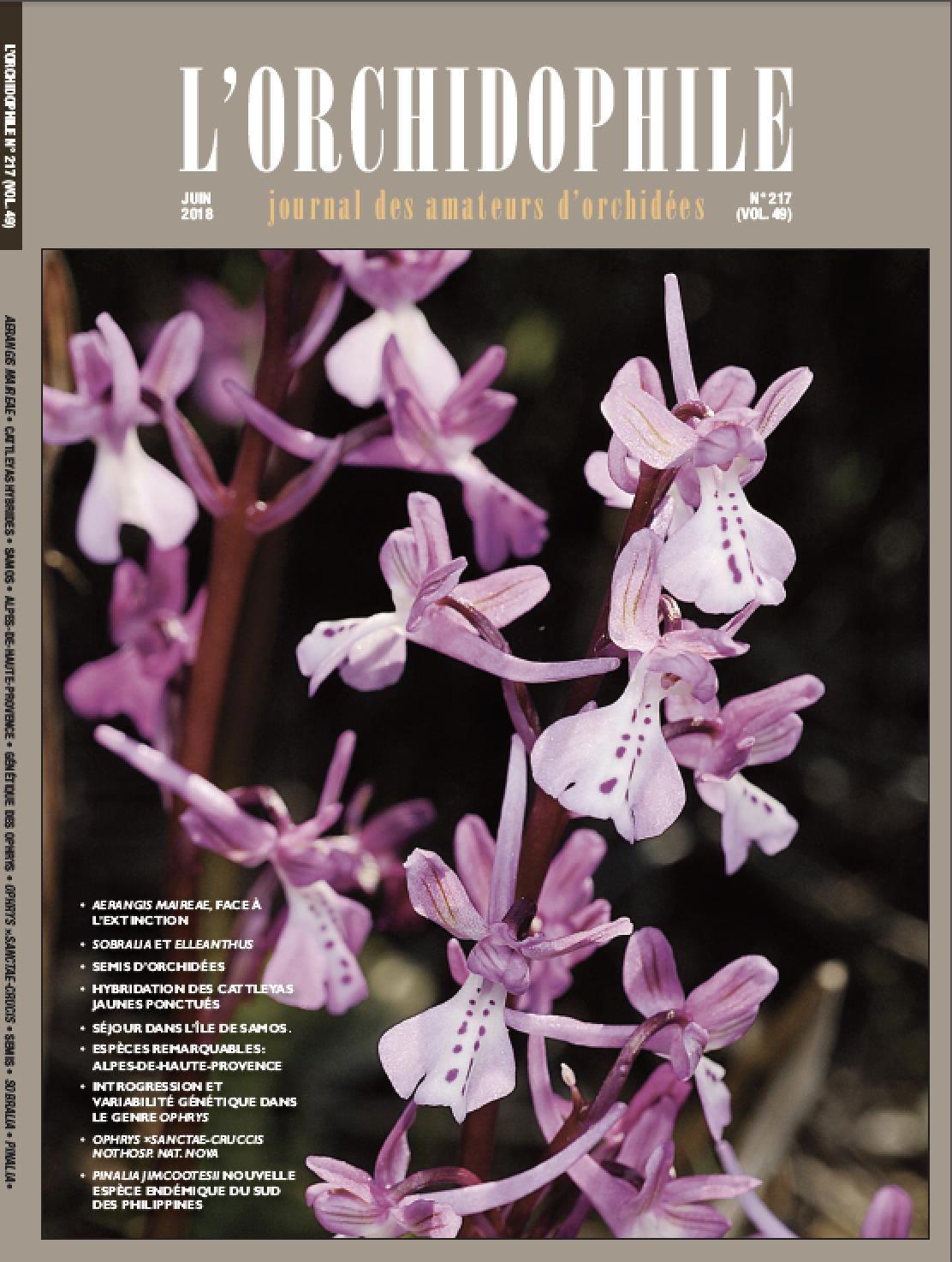 L'Orchidophile, magazine des passionnés d'orchidées