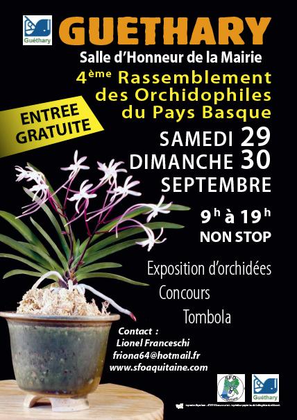 Exposition orchidées à Guétary, 29 et 30 septembre 2018