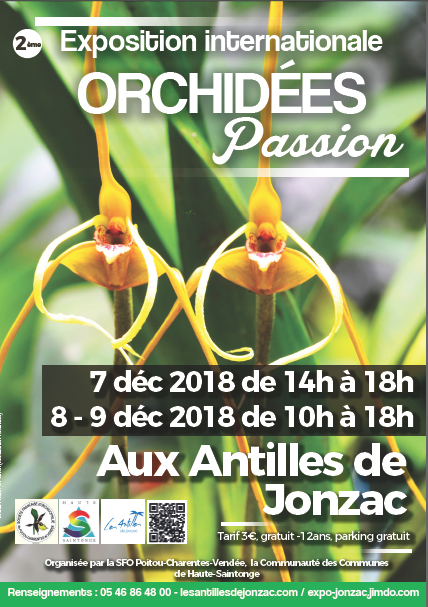 Exposition d'orchidées à Jonzac, SFO PCV