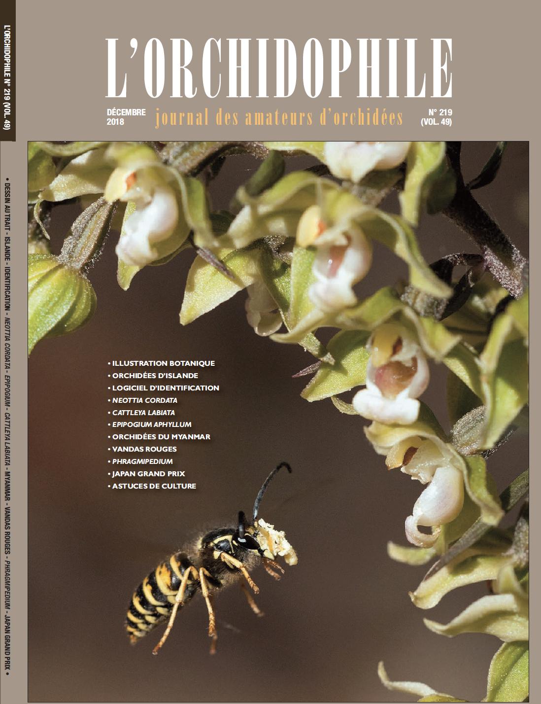 L'Orchidophile n°219 décembre 2018 Magazine des amateurs d'orchidées. Association orchidées. Société Française d'Orchidophilie - SFO