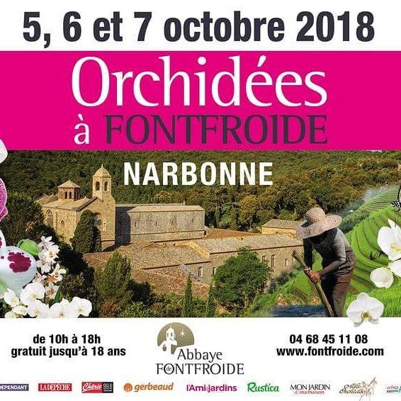 Exposition d'orchidées, Abbaye de Fontfroide, 5-7 octobre 2018