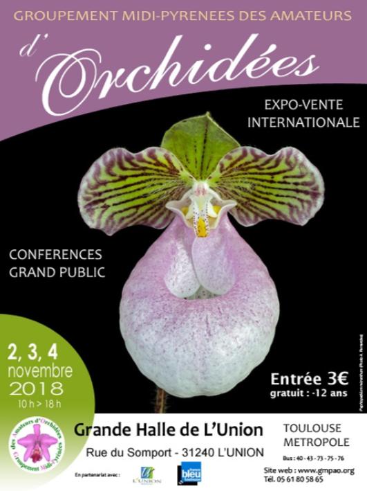 Exposition orchidées L'Union 2-4 novembre 2018 Toulouse producteurs vente orchidées Sud-OUest