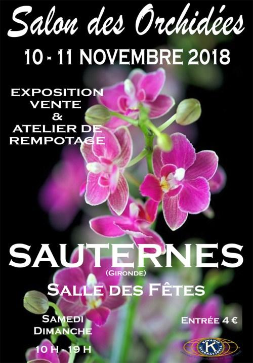 4e salon des orchidées à Sauternes, 10 et 11 novembre 2018