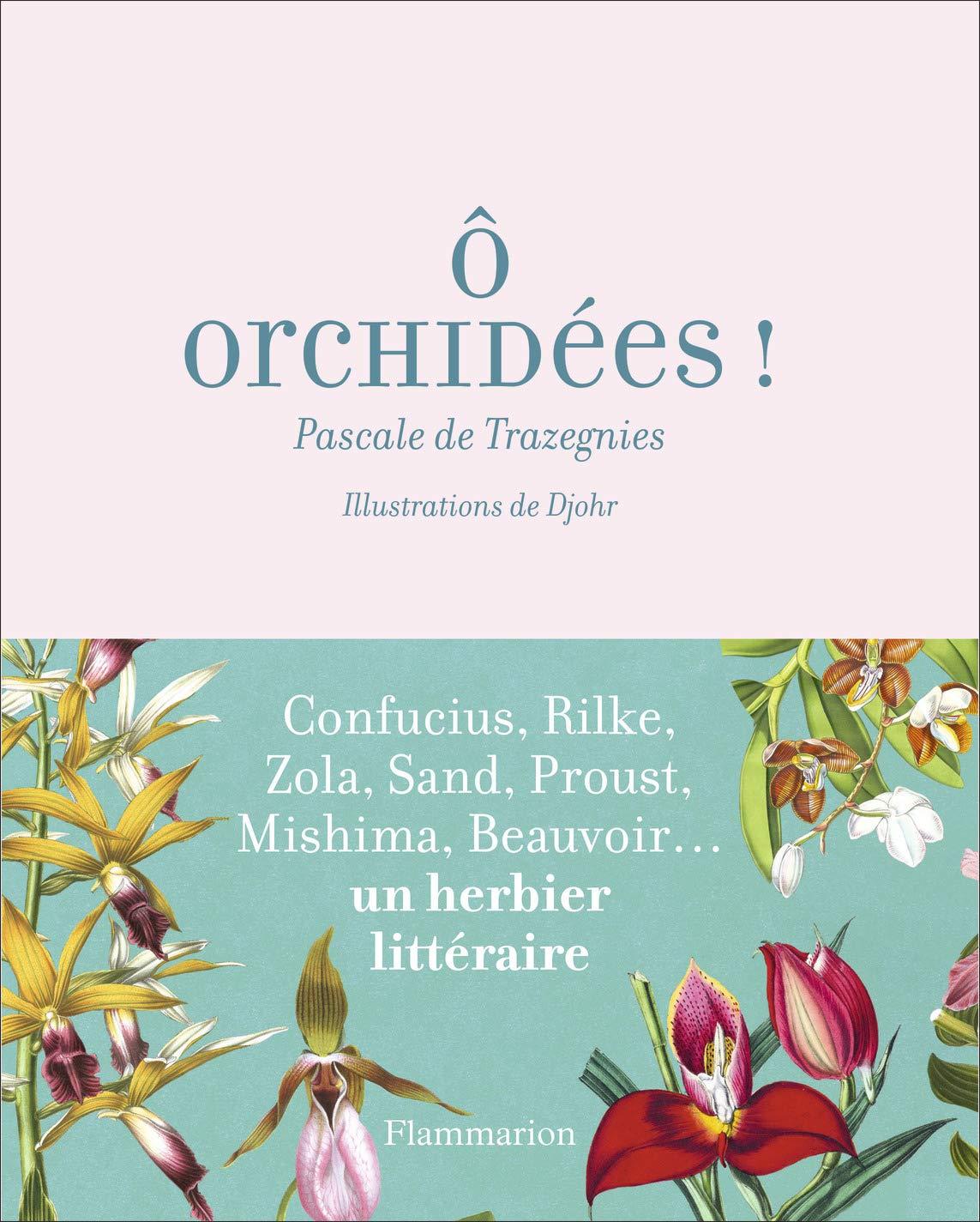 Ô Orchidées par Pascale de Trazegnies, illustré par Djohr. Éd. Flammarion, ISBN 978-2-0814-4570-3, 32 €.