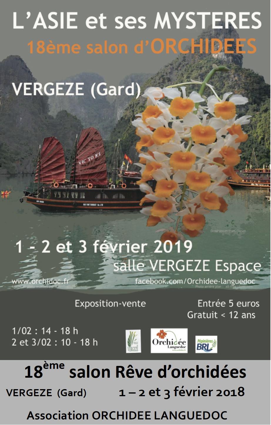 Exposition Vergèze 2019 orchidées vente Gard Nîmes