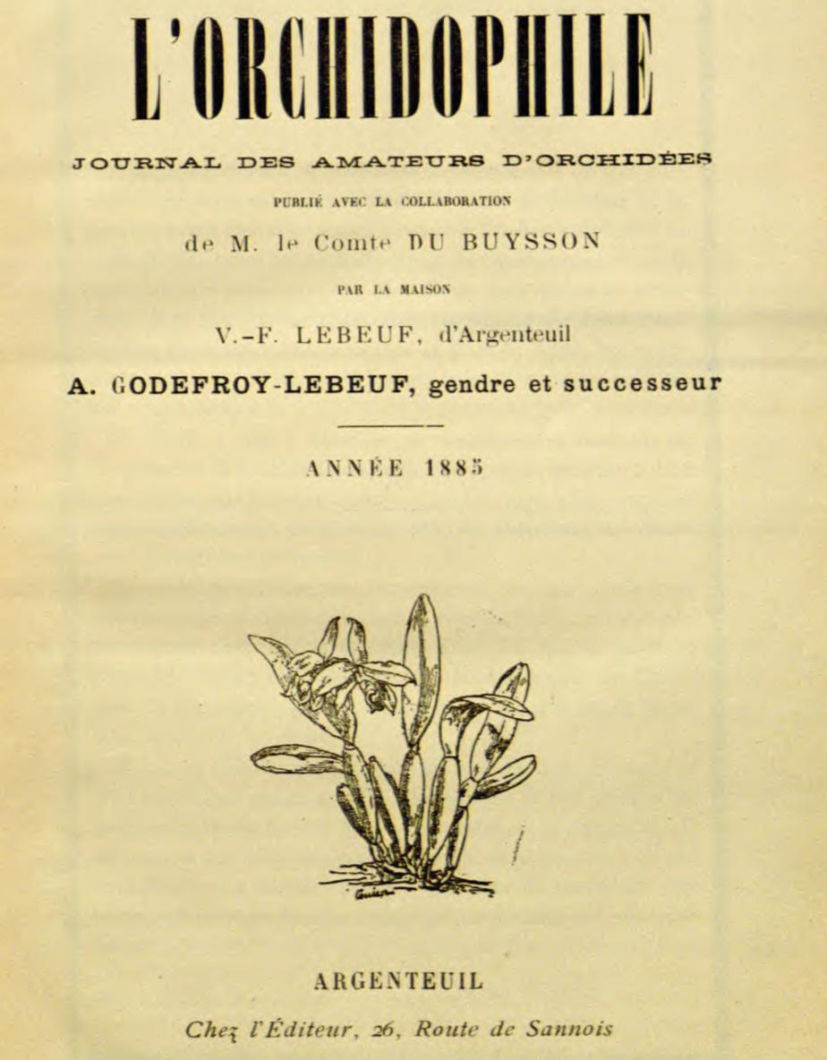 L'Orchidophile, numéros historiques