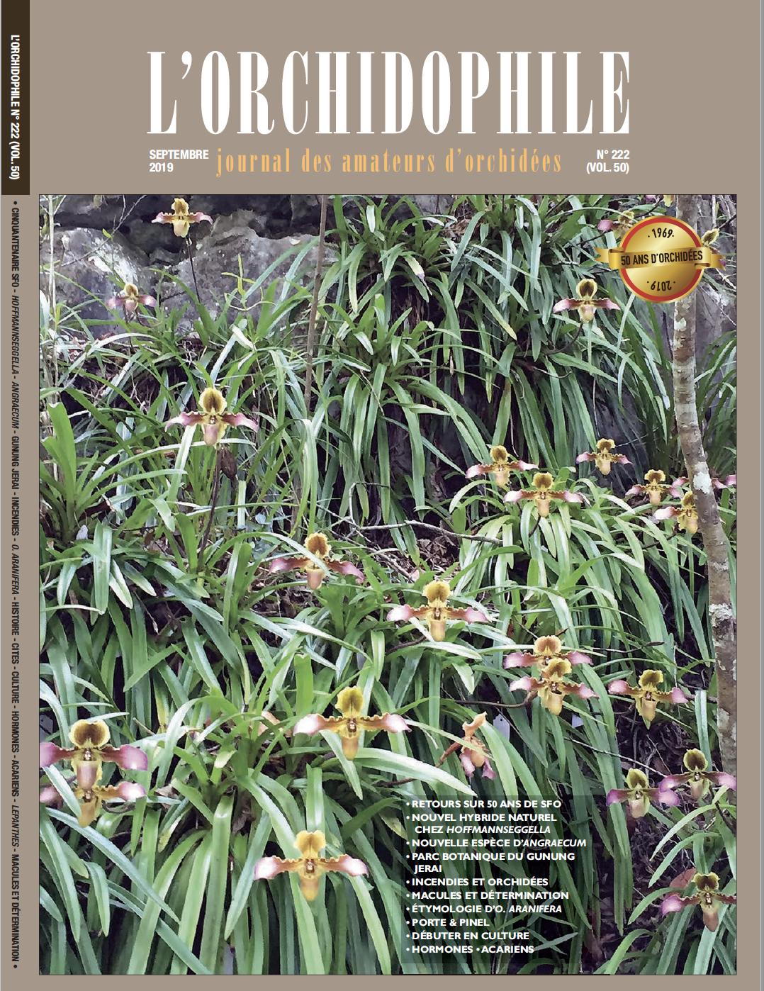 Couverture Orchidophile 222 septembre 2019