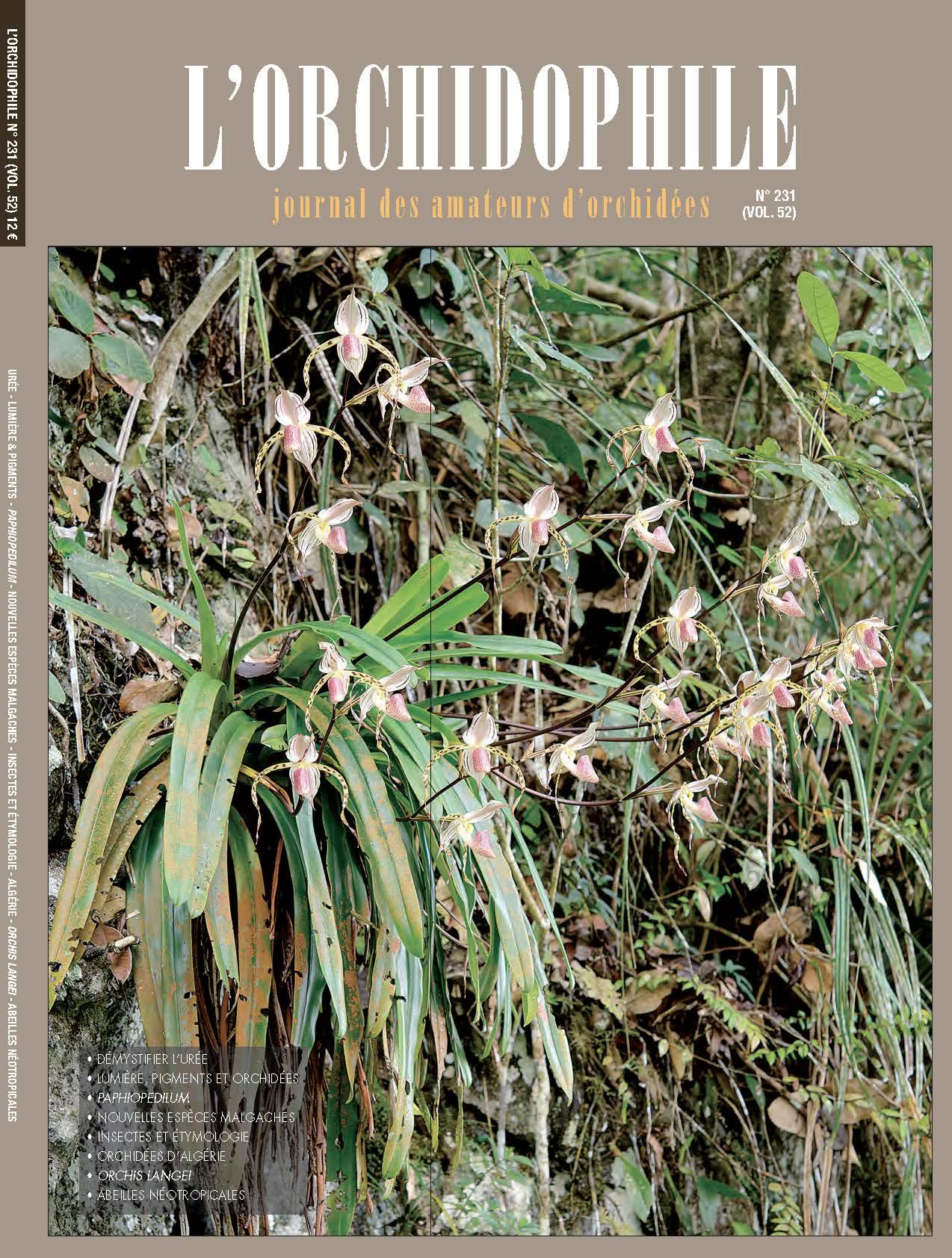 L'Orchidophile, Journal des amateurs d'orchidées, culture, connaissance et protection de l'environnement et des orchidées exotiques et indigènes.